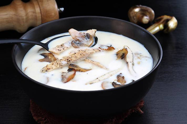 Cream of Mushroom Chicken Soup