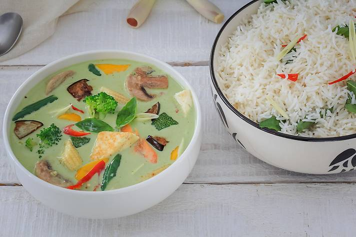 Thai Green-Curry 'n' Steamed Rice