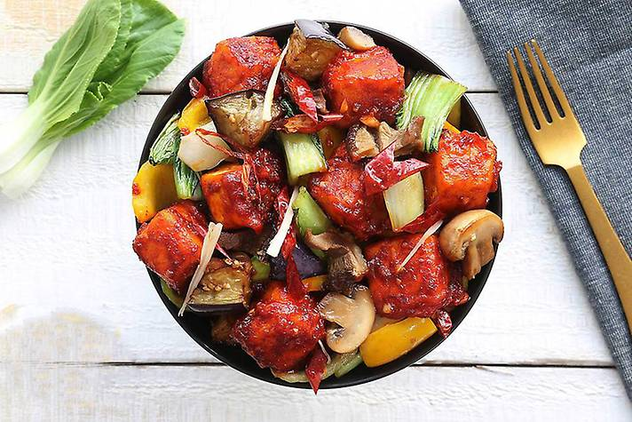 Beijing Paneer Vegetable Stir Fry