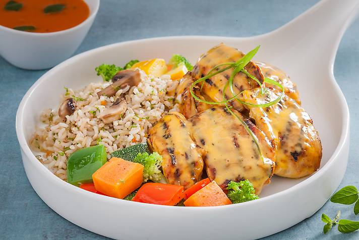 Ranch Baked Chicken 'n' Brown Rice